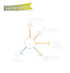 Simple process step vector image vector image