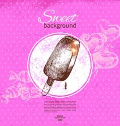 Vintage sweet background vector image vector image