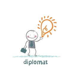 diplomat with a good idea vector image vector image