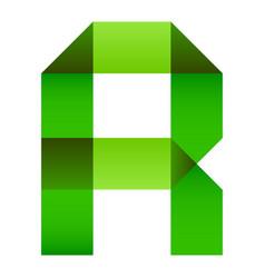 font folded paper letter vector image