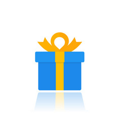 gift box icon isolated on white vector image vector image