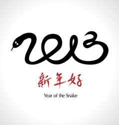 Year of the Snake 2013 Chinese Happy New Year vector image vector image