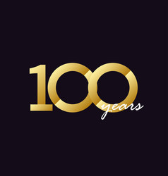100 years anniversary celebration gradient vector