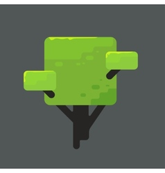A square tree with green foliage vector