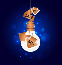 Abstract Light bulb Sale Signs vector image