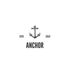 anchor vintage- logo vector image