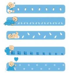 baby banners vector image