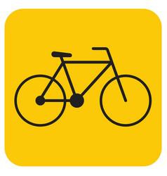 bicycle bike icon vector image