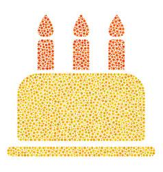 Birthday cake mosaic of small circles vector