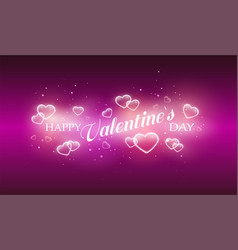 bright pink romance background for greeting card vector image