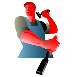 Carpenter tradesman worker chisel vector