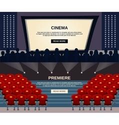 Cinema banner set vector