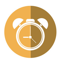 clock time watch alarm shadow vector image