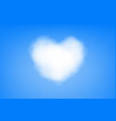 Cloud heart shape scene vector