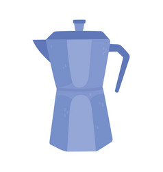 coffee moka pot traditional isolated icon style vector image