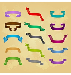 Collection of ribbon icons vector image vector image