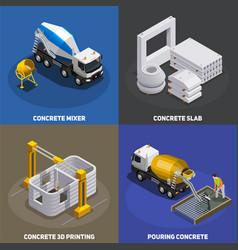 concrete production design concept vector image