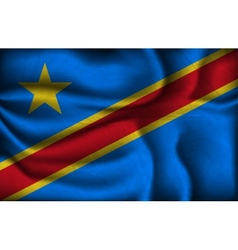 crumpled flag congo on a light background vector image