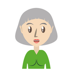 Cute grandmother cartoon vector