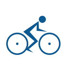 cycling race logo vector image