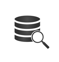 Database server isolated flat web mobile icon vector