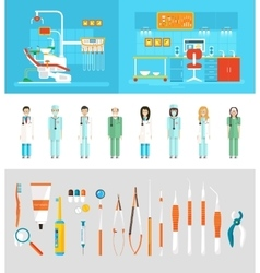 Dental office dentists vector