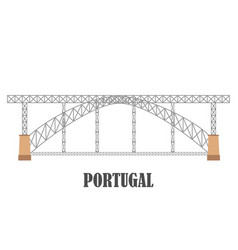 dom luis i bridge porto portugal landmark vector image