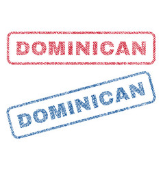 Dominican textile stamps vector