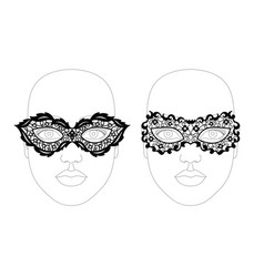 Face lacy mask vector