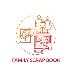 Family scrap book concept icon vector