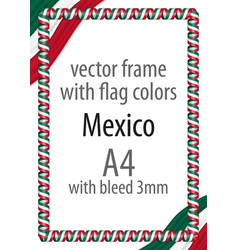 Flag v12 mexico vector