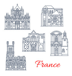 france landmarks facades icons provence vector image