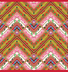 geometric tribe seamless pattern colorful ethnic vector image