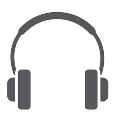 Headphones glyph icon music and sound audio vector