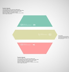 Hexagonal infographic template consists of three vector image