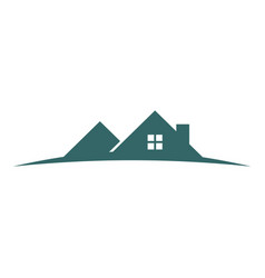 hill housing vector image