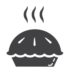 hot pie glyph icon food and drink bakery sign vector image