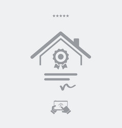 House certification - web icon vector