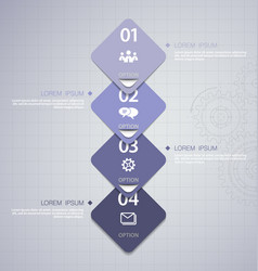 Infographics design template with icons vector