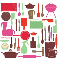 kitchen tools for cooking vector image