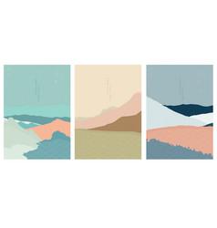 landscape background with japanese wave pattern vector image