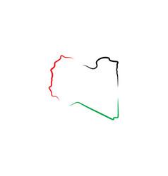 libya map logo icon symbol element vector image