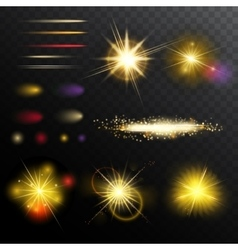 Light Effects Magic Set vector