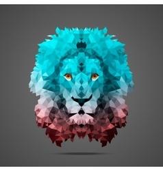 Lion low poly Rose Quartz Side light vector