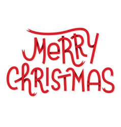 Merry Christmas lettering isolated on white Typogr vector