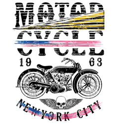 motorsports logo tee denim jersey and fashion vector image