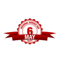 national nurses day 6 may simple modern design vector image