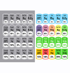 Nutrition facts information label for cereal box vector
