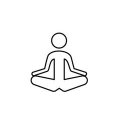 person in meditation posture outline icon signs vector image
