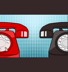 pop art retro comic style red and black old vector image